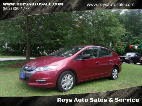 2010 Honda Insight for sale at Roys Auto Sales & Service in Hudson NH