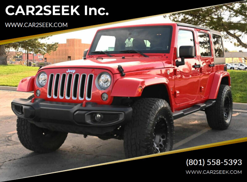 2017 Jeep Wrangler Unlimited for sale at CAR2SEEK Inc. in Salt Lake City UT