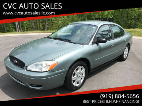 2006 Ford Taurus for sale at CVC AUTO SALES in Durham NC