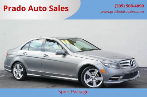 2011 Mercedes-Benz C-Class for sale at Prado Auto Sales in Miami FL