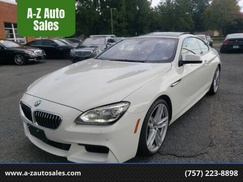 2013 BMW 6 Series for sale at A-Z Auto Sales in Newport News VA