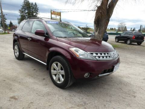 2007 Nissan Murano for sale at VALLEY MOTORS in Kalispell MT