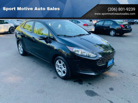 2015 Ford Fiesta for sale at Sport Motive Auto Sales in Seattle WA