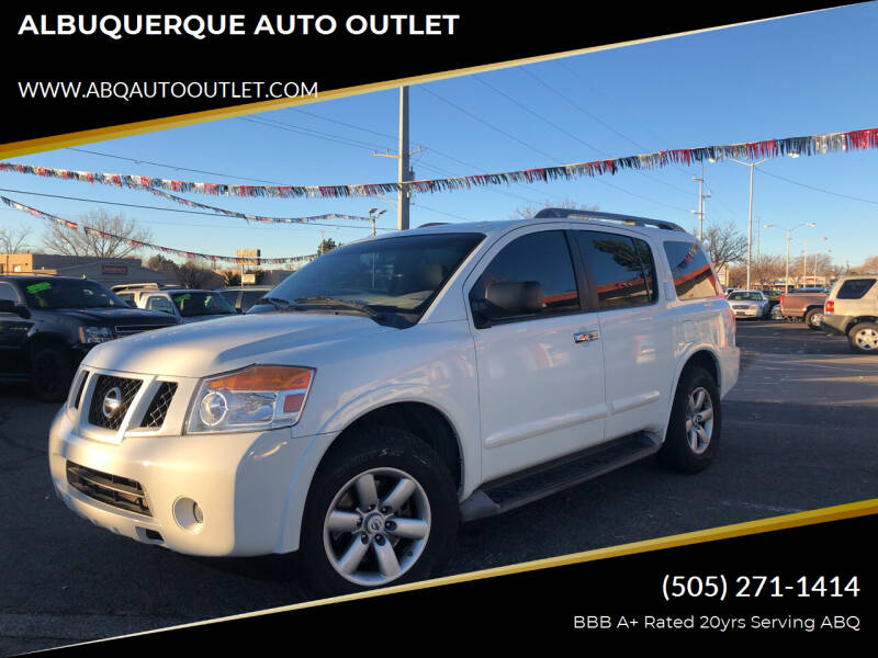 2014 Nissan Armada for sale at ALBUQUERQUE AUTO OUTLET in Albuquerque NM