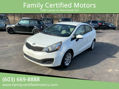 2013 Kia Rio for sale at Family Certified Motors in Manchester NH