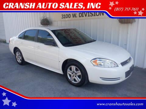2009 Chevrolet Impala for sale at CRANSH AUTO SALES, INC in Arlington TX