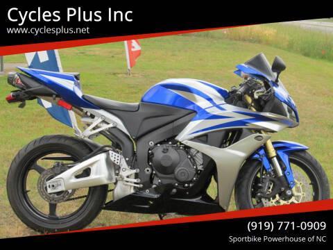 2012 Honda CBR600RR for sale at Cycles Plus Inc in Garner NC