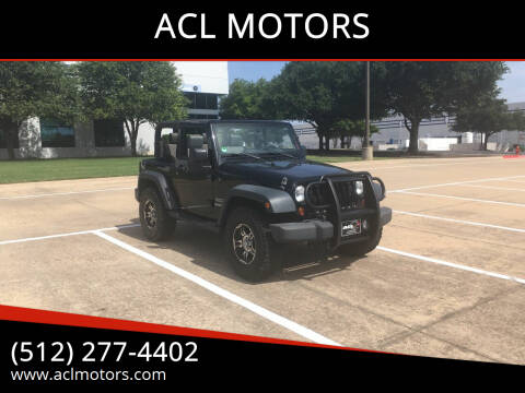 2010 Jeep Wrangler for sale at ACL MOTORS in Austin TX