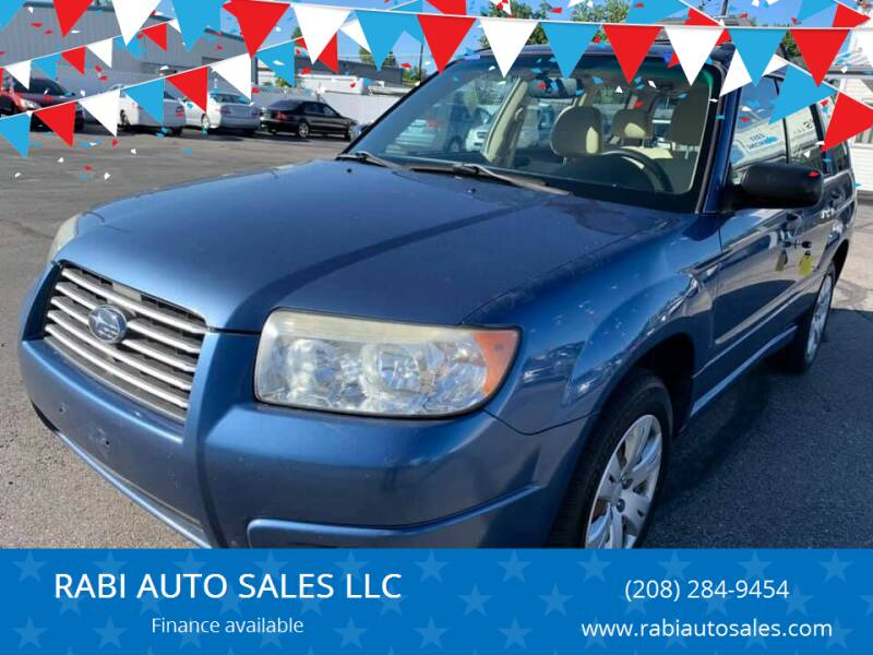 2008 Subaru Forester for sale at RABI AUTO SALES LLC in Garden City ID