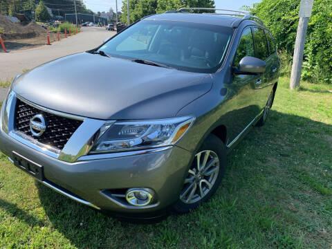 2015 Nissan Pathfinder for sale at SODA MOTORS AUTO SALES LLC in Newport RI