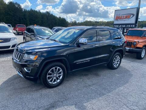 2014 Jeep Grand Cherokee for sale at Billy Ballew Motorsports in Dawsonville GA