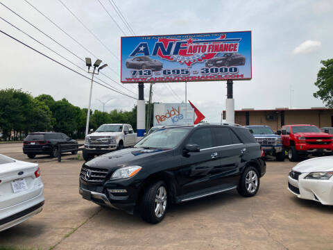 2014 Mercedes-Benz M-Class for sale at ANF AUTO FINANCE in Houston TX