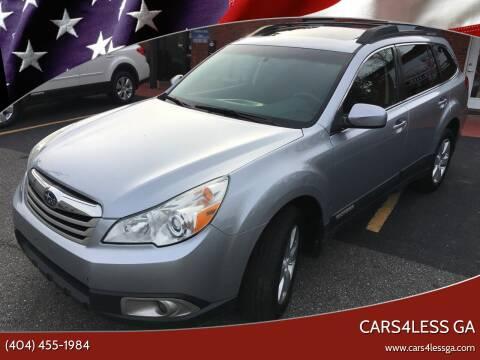 2012 Subaru Outback for sale at Cars4Less GA in Alpharetta GA
