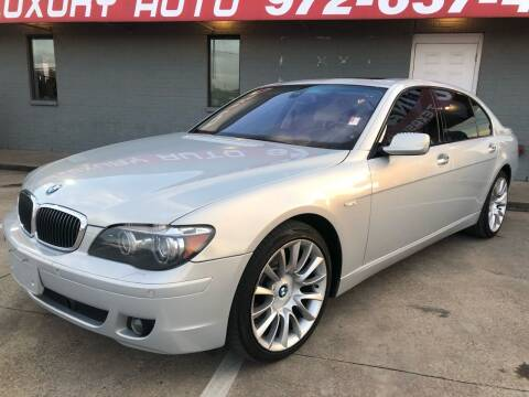 2007 BMW 7 Series for sale at Texas Luxury Auto in Cedar Hill TX