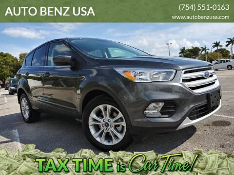 2019 Ford Escape for sale at AUTO BENZ USA in Fort Lauderdale FL