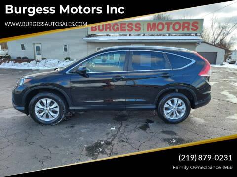 2014 Honda CR-V for sale at Burgess Motors Inc in Michigan City IN