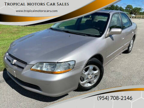 1998 Honda Accord for sale at Tropical Motors Car Sales in Deerfield Beach FL
