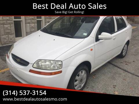 2004 Chevrolet Aveo for sale at Best Deal Auto Sales in Saint Charles MO