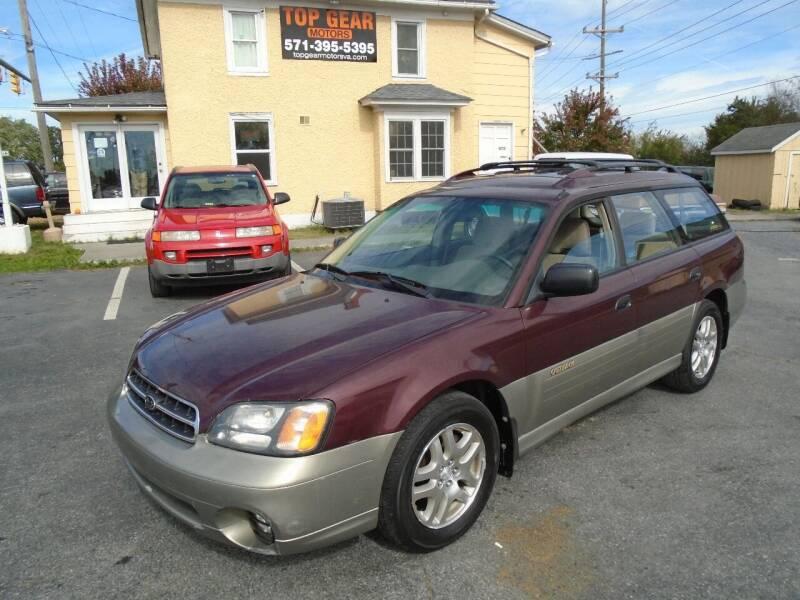 2001 Subaru Outback for sale at Top Gear Motors in Winchester VA