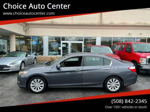 2013 Honda Accord for sale at Choice Auto Center in Shrewsbury MA