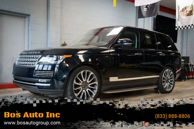 2016 Land Rover Range Rover for sale at Bos Auto Inc in Quincy MA