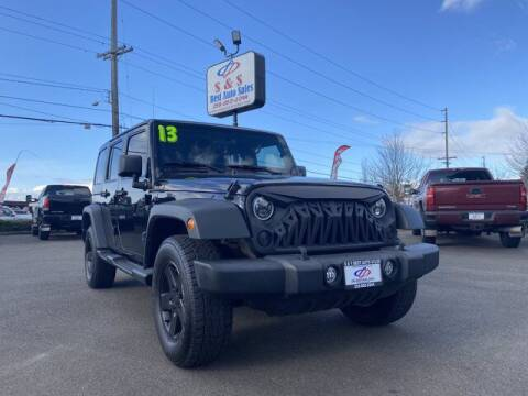 2013 Jeep Wrangler Unlimited for sale at S&S Best Auto Sales LLC in Auburn WA
