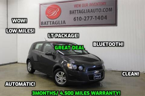 2016 Chevrolet Sonic for sale at Battaglia Auto Sales in Plymouth Meeting PA