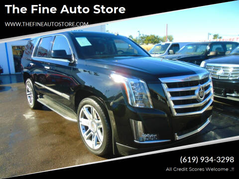 2015 Cadillac Escalade for sale at The Fine Auto Store in Imperial Beach CA