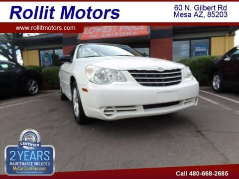 2008 Chrysler Sebring for sale at Rollit Motors in Mesa AZ