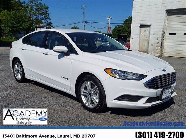2018 Ford Fusion Hybrid for sale in Laurel, MD