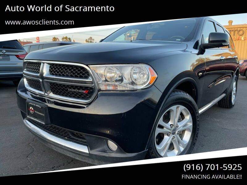 2013 Dodge Durango for sale at Auto World of Sacramento Stockton Blvd in Sacramento CA