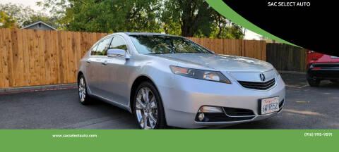 2012 Acura TL for sale at SAC SELECT AUTO in Sacramento CA