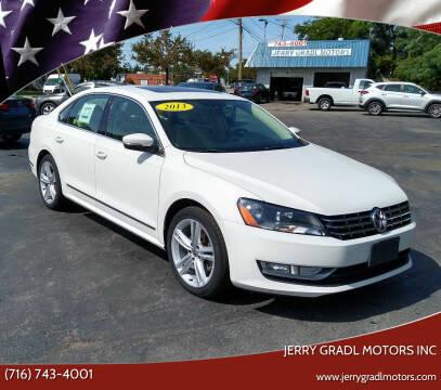 2013 Volkswagen Passat for sale at JERRY GRADL MOTORS INC in North Tonawanda NY