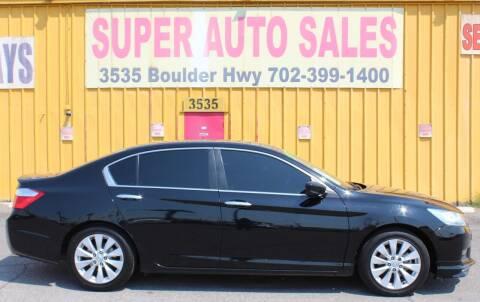 2015 Honda Accord for sale at Super Auto Sales in Las Vegas NV