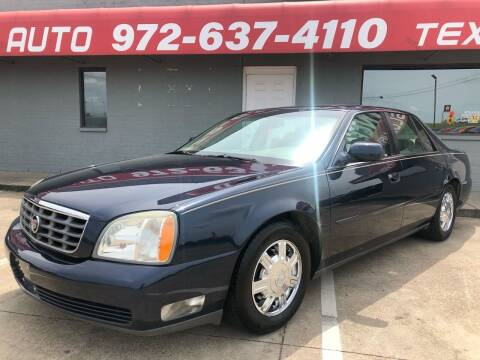 2004 Cadillac DeVille for sale at Texas Luxury Auto in Cedar Hill TX