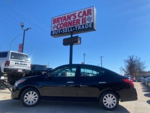 2018 Nissan Versa for sale at Bryans Car Corner in Chickasha OK