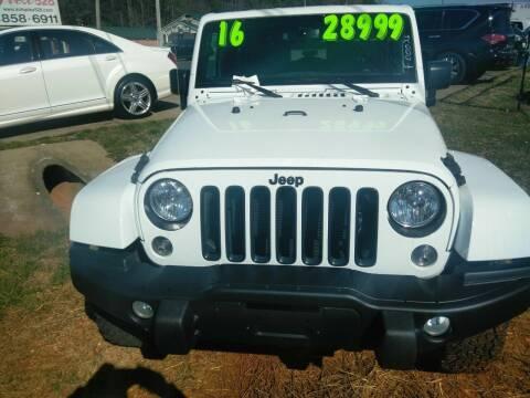 2016 Jeep Wrangler for sale at AUTOPLEX 528 LLC in Huntsville AL