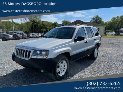 2004 Jeep Grand Cherokee for sale at ES Motors-DAGSBORO location in Dagsboro DE