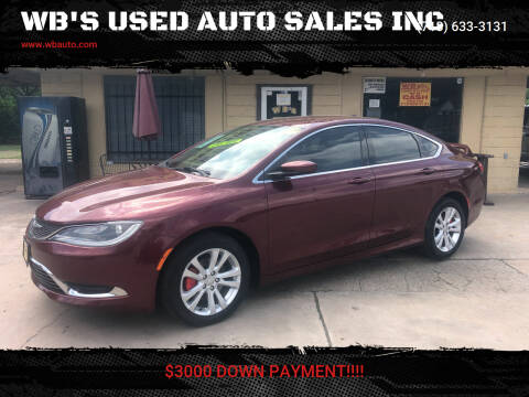 2016 Chrysler 200 for sale at WB'S USED AUTO SALES INC in Houston TX