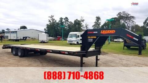 2021 LEGEND 40' Flatbed Gooseneck 24K for sale at Montgomery Trailer Sales - LEGEND in Conroe TX