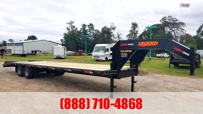 2021 LEGEND 40' Flatbed Gooseneck 24K for sale at Montgomery Trailer Sales - LEGEND in Conroe TX