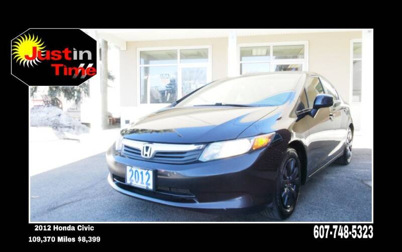 2012 Honda Civic for sale at Just In Time Auto in Endicott NY