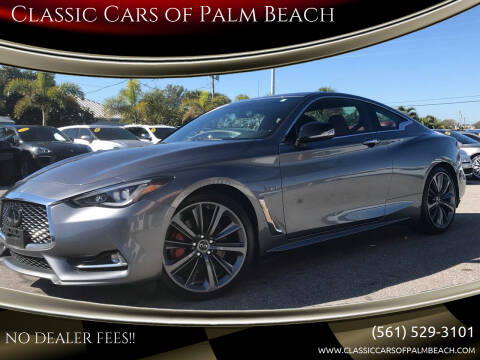 2019 Infiniti Q60 for sale at Classic Cars of Palm Beach in Jupiter FL