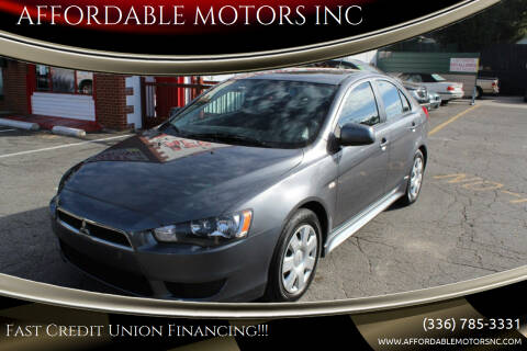 2011 Mitsubishi Lancer Sportback for sale at AFFORDABLE MOTORS INC in Winston Salem NC