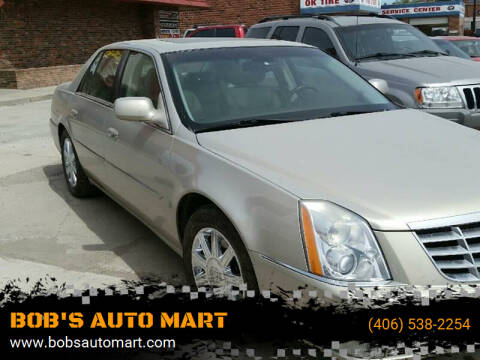 2007 Cadillac DTS for sale at BOB'S AUTO MART in Lewistown MT