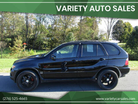 2005 BMW X5 for sale at Variety Auto Sales in Abingdon VA
