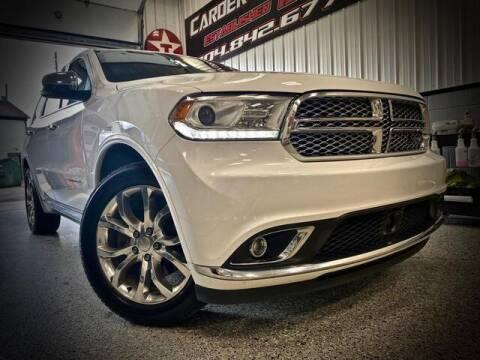 2017 Dodge Durango for sale at Carder Motors Inc in Bridgeport WV