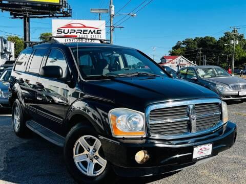 2005 Dodge Durango for sale at Supreme Auto Sales in Chesapeake VA