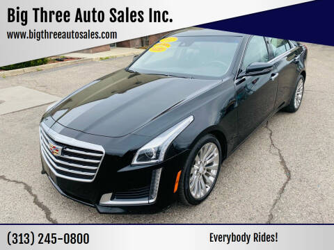 2017 Cadillac CTS for sale at Big Three Auto Sales Inc. in Detroit MI