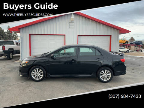 2010 Toyota Corolla for sale at Buyers Guide in Buffalo WY